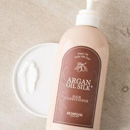 [Review] Dầu xả SKINFOOD ARGAN OIL SILK + HAIR CONDITIONER – tự tin cùng mái tóc mượt mà óng ả!