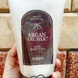 """[Review] Mặt nạ tóc SKINFOOD Bath & Body ARGAN OIL SILK + HAIR MASK PACK – """"Vệ sĩ"""" cho mái tóc của bạn!"""