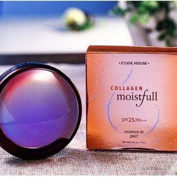 [Review] Công dụng của phấn phủ Collagen Etude House Moistfull Collagen Essence-In Pact bạn đã biết chưa?