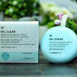 [Review] Phấn trang điểm THEFACESHOP OIL CLEAR BLOTTING PACT