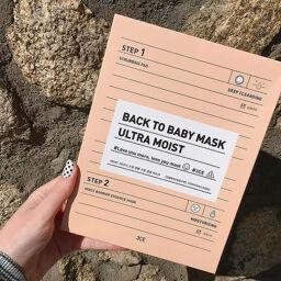 """3CE BACK TO BABY MASK #ULTRA MOIST – """"tưới nước"""" cho làn da khô của bạn."""